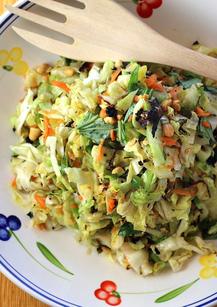 Green cabbage gets kissed by the grill to turn coleslaw into something special.