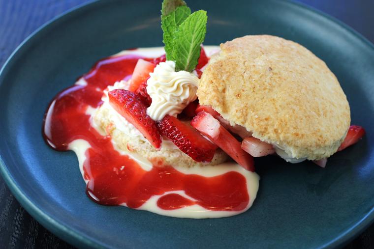 A quintessential strawberry shortcake.