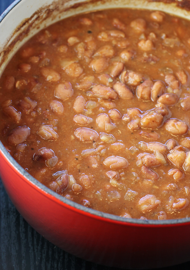 Southern baked beans that are far more savory than sweet.