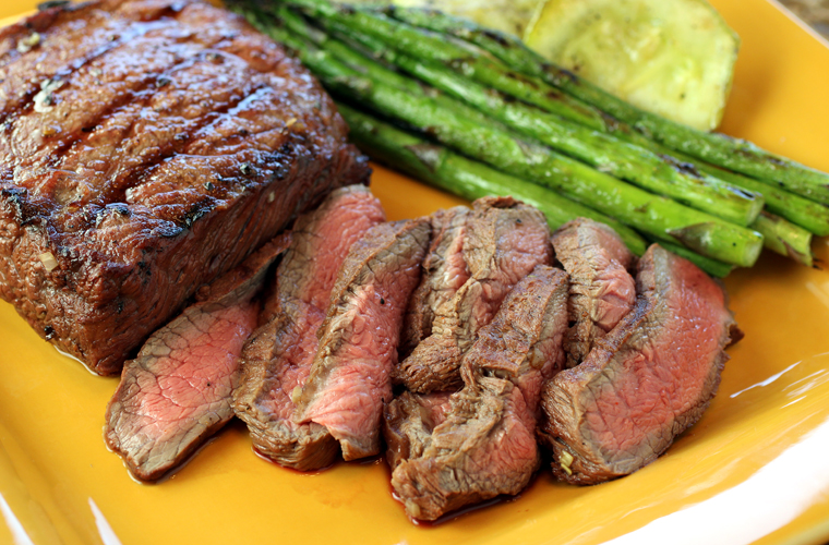 Not as easy to find as flank steak, but flat iron steak is far more tender and beefy tasting.