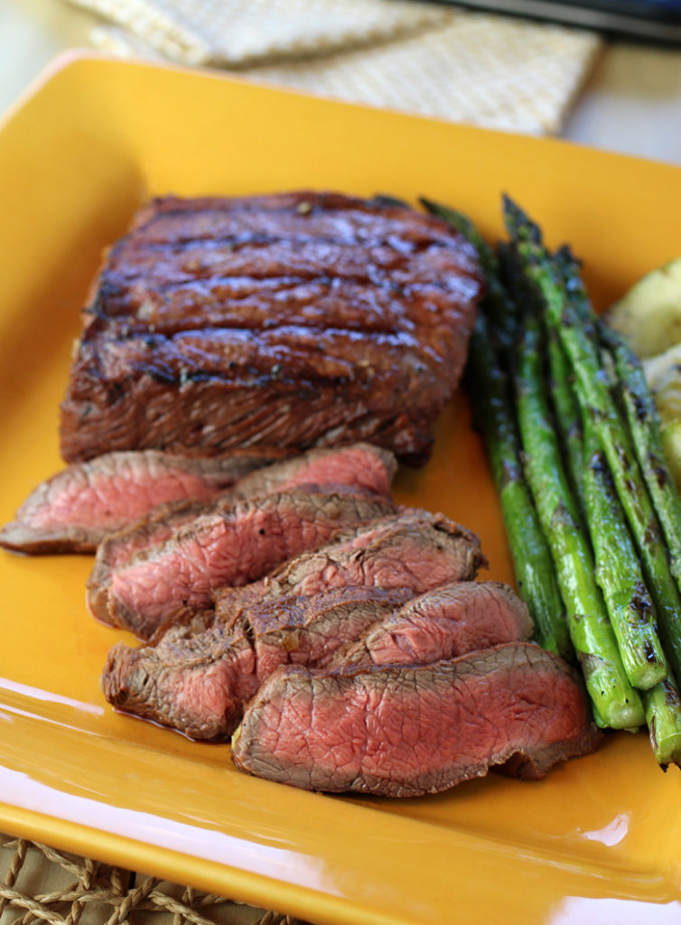 There's no time like Fourth of July to try this espresso-garlic marinated flat iron steak on the grill.