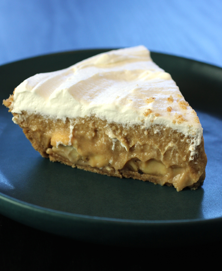 The glorious butterscotch-banana cream pie.