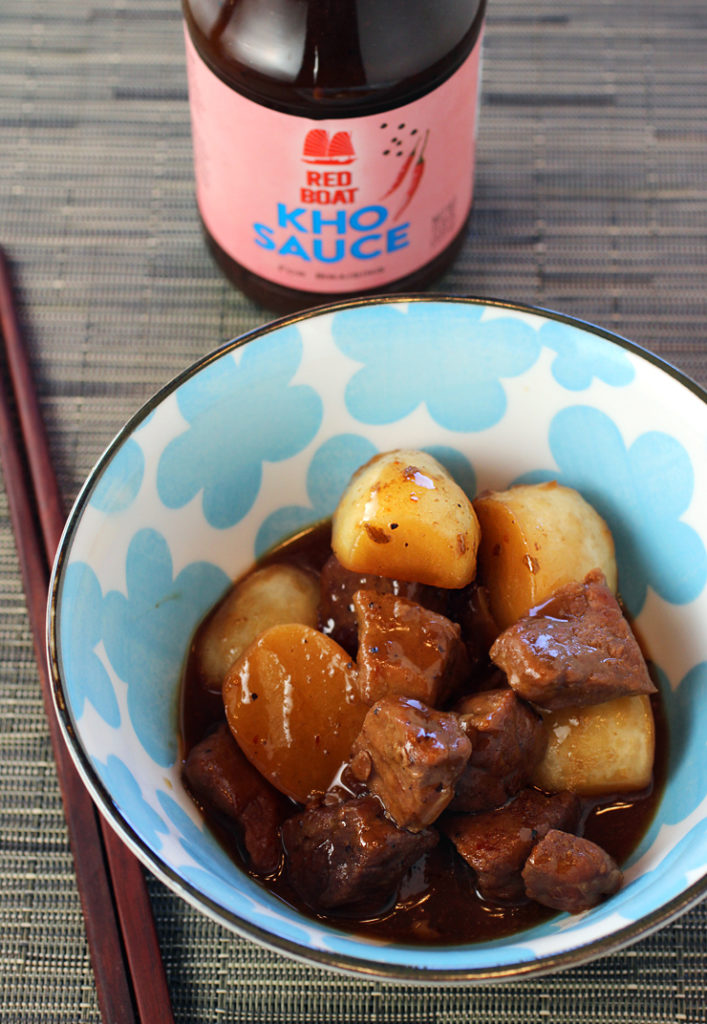 Red Boat's new braising sauce turns simple pork and Japanese turnips into something special.