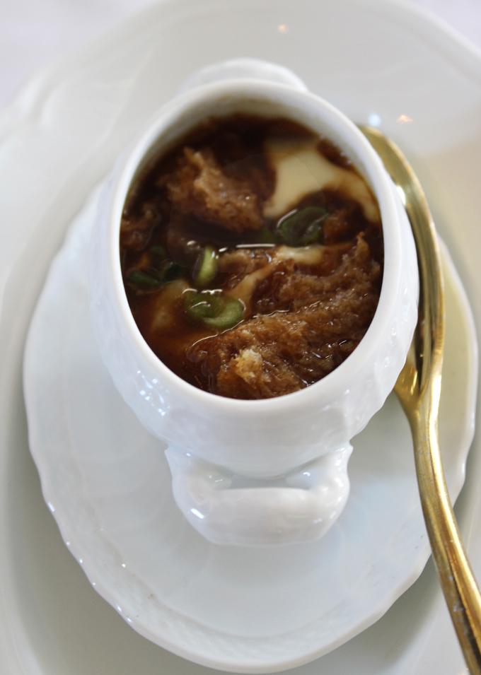 """""""Tiny Onion Soup.''"""