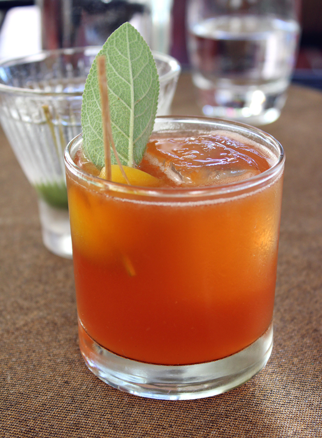 Apricot & Sage cocktail.
