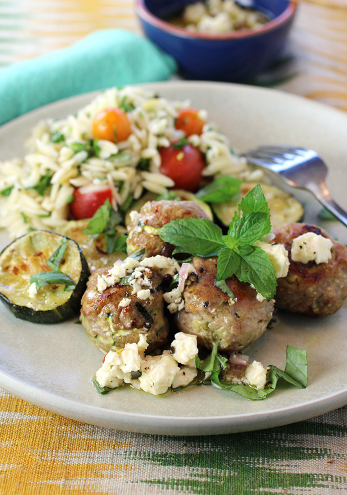 With a side of lemony orzo or grilled flatbread or seasoned chickpeas, dinner is served.