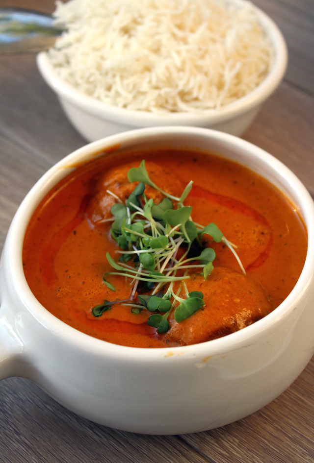 Jafrani kofta curry.