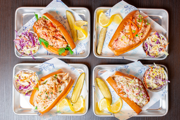 Lobster and crab rolls at Scott's Chowder House. (Photo courtesy of the restaurant.)