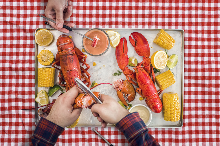 Get cracking at The Vault's lobster boil. (Photo courtesy of the restaurant.)