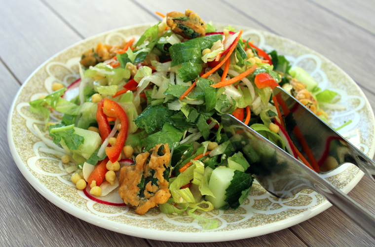 Indian-style chopped salad.
