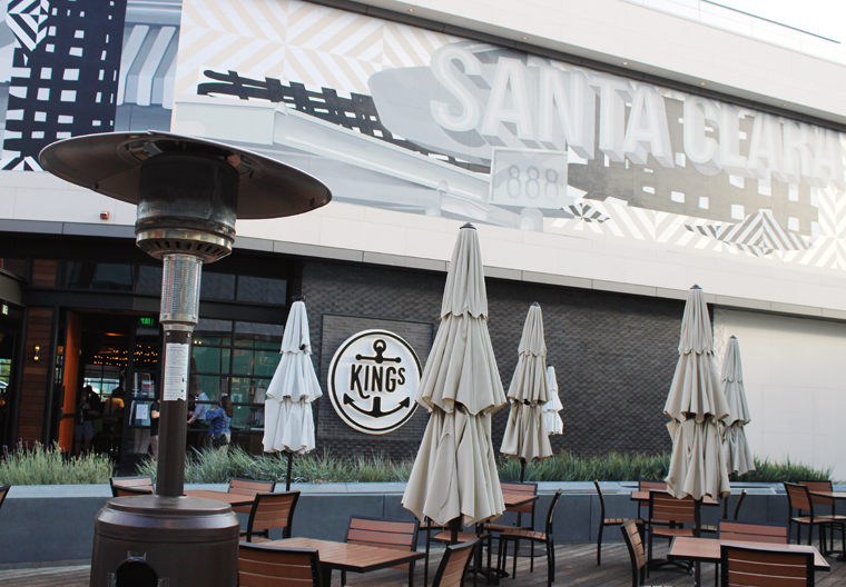 The restaurant opened on the mall's new dining terrace.