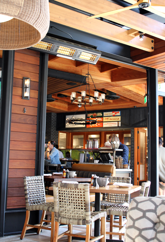 With garage doors that let the outside in, the expansive restaurant sports an open-air feel.