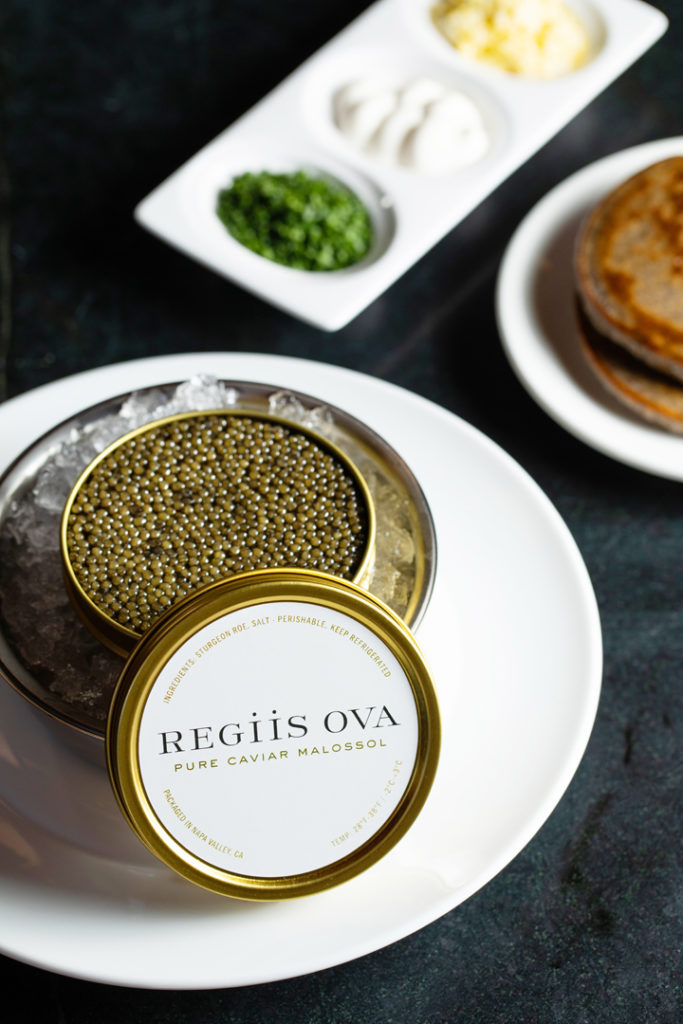 A luxury pop-up -- Regiis Ova Caviar and Champagne Lounge. (Photo courtesy of Regiis Ova)