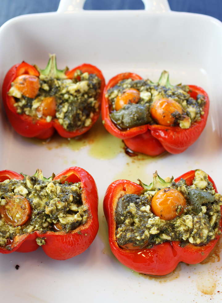 The peppers bake until tender yet still maintain their structure.