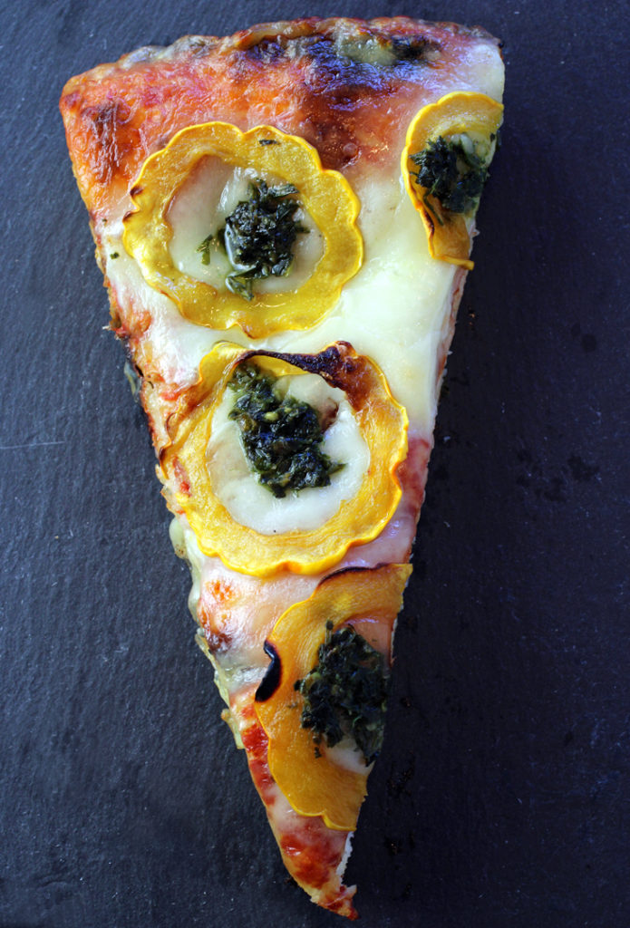 The butternut squash and salsa verde Milan-style pizza from Pizzone.