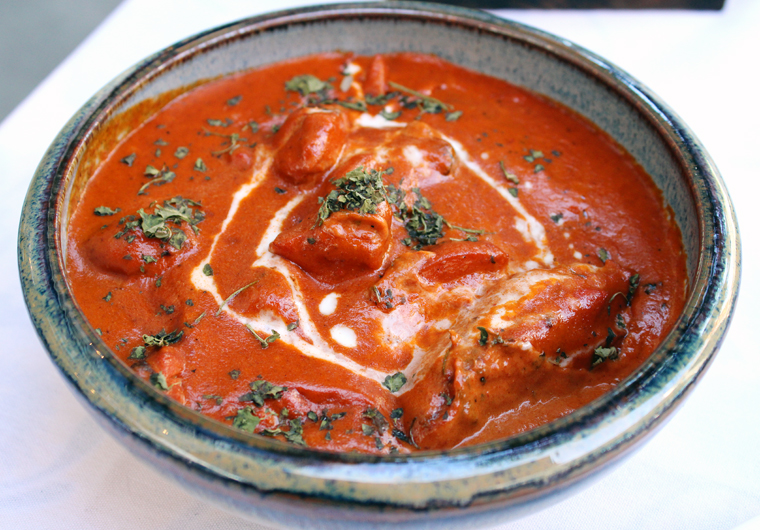 The signature butter chicken.