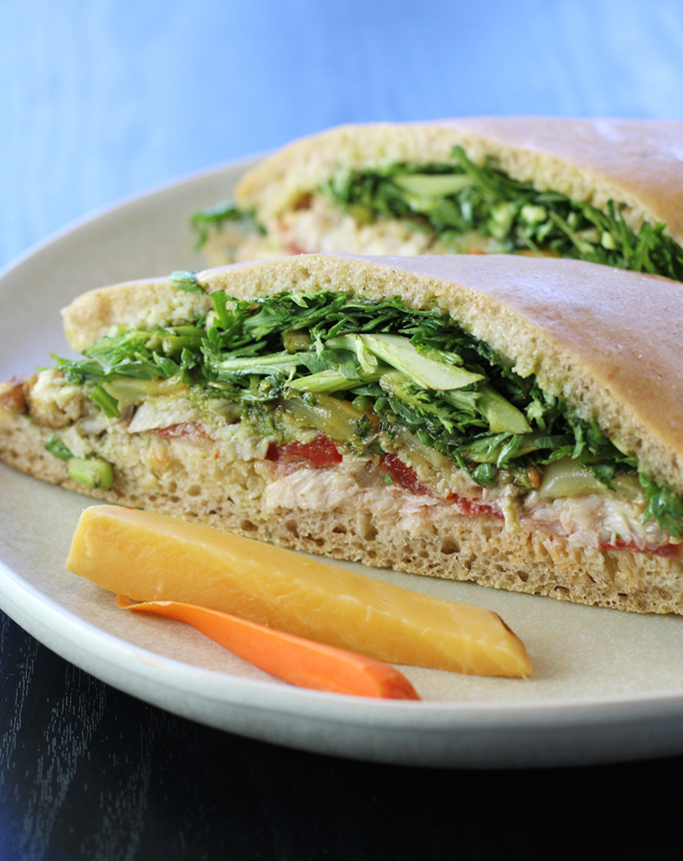 A divine lingcod sandwich from Standard Fare.