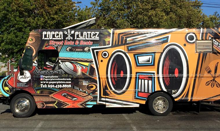 The Paper Platez/Taqueria La Bamba food truck.