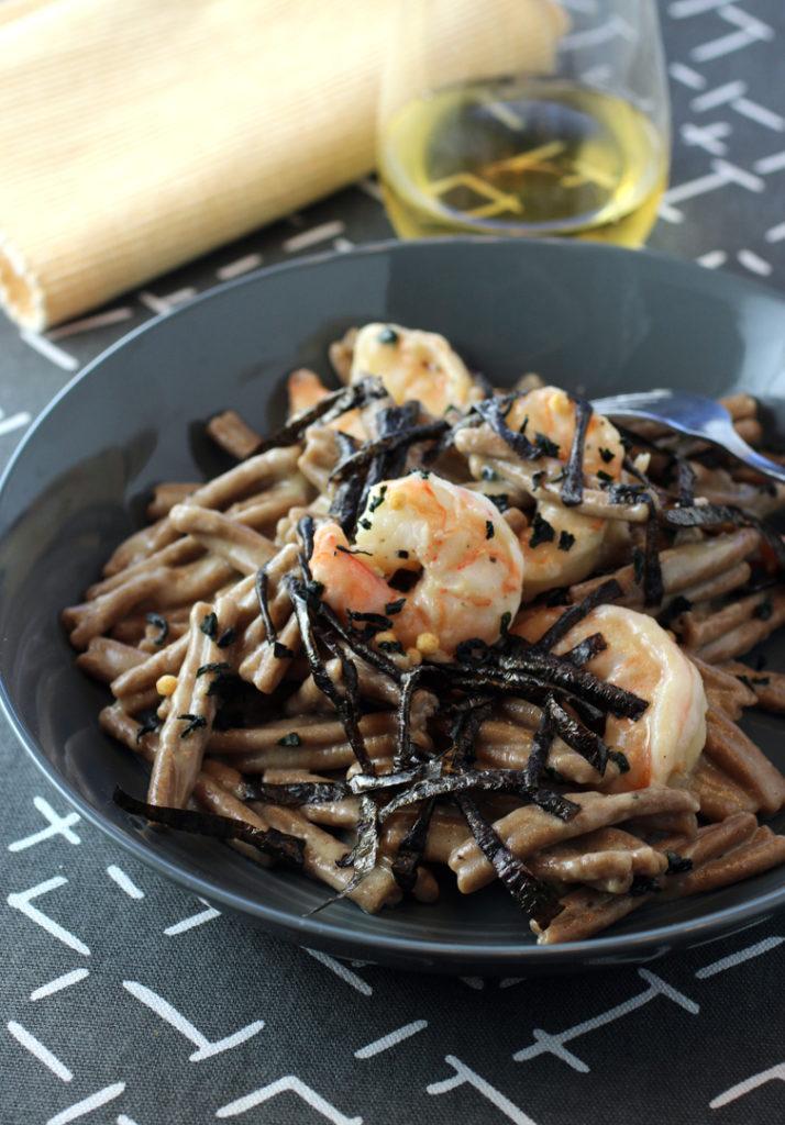 A Japanese-influenced cacio e pepe made with a new high-fiber, nutty tasting artisanal dried pasta.