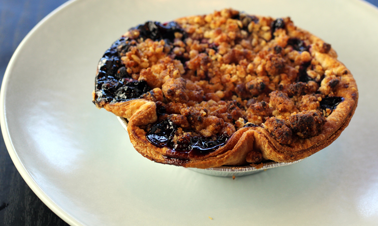 A blueberry pie big enough to share, if you like.